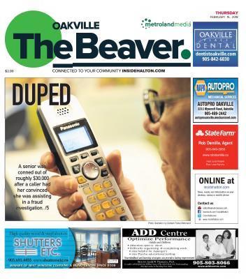 Oakville Beaver, 15 Feb 2018