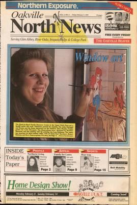 Oakville North News (Oakville, Ontario: Oakville Beaver, Ian Oliver - Publisher), 5 Feb 1993