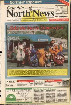 Oakville North News (Oakville, Ontario: Oakville Beaver, Ian Oliver - Publisher), 13 Aug 1993