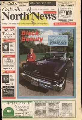 Oakville North News (Oakville, Ontario: Oakville Beaver, Ian Oliver - Publisher), 8 Oct 1993