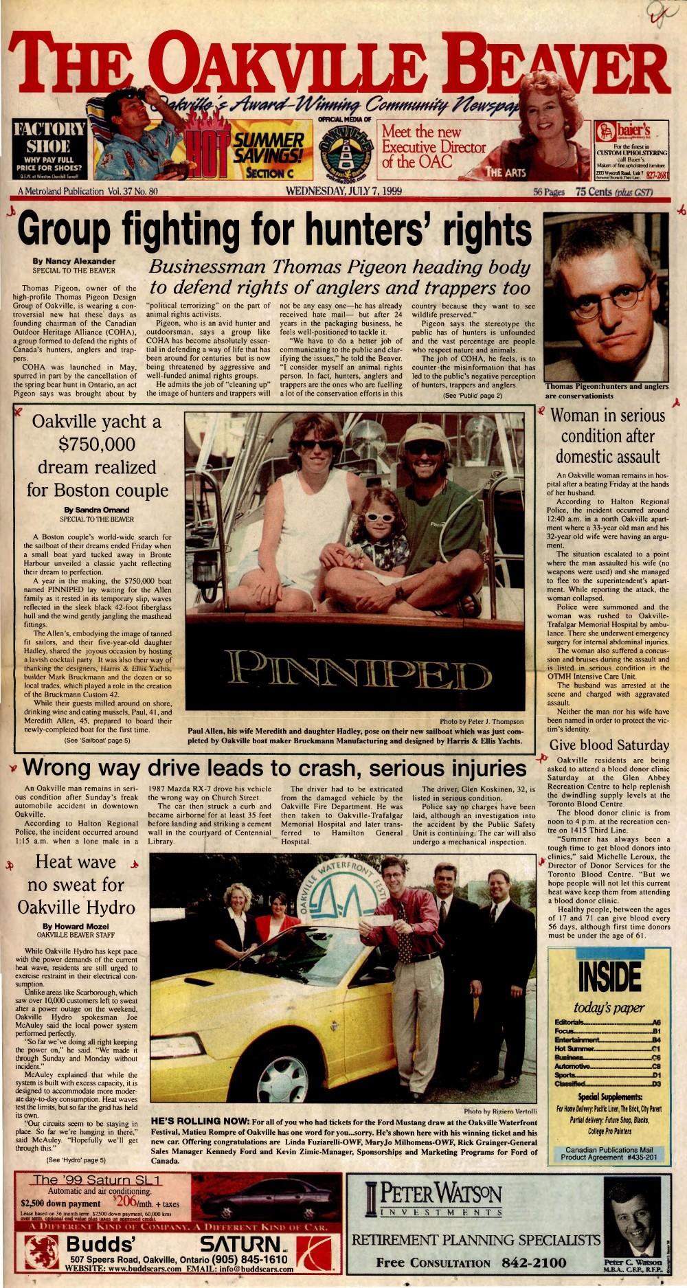Oakville Beaver, 7 Jul 1999