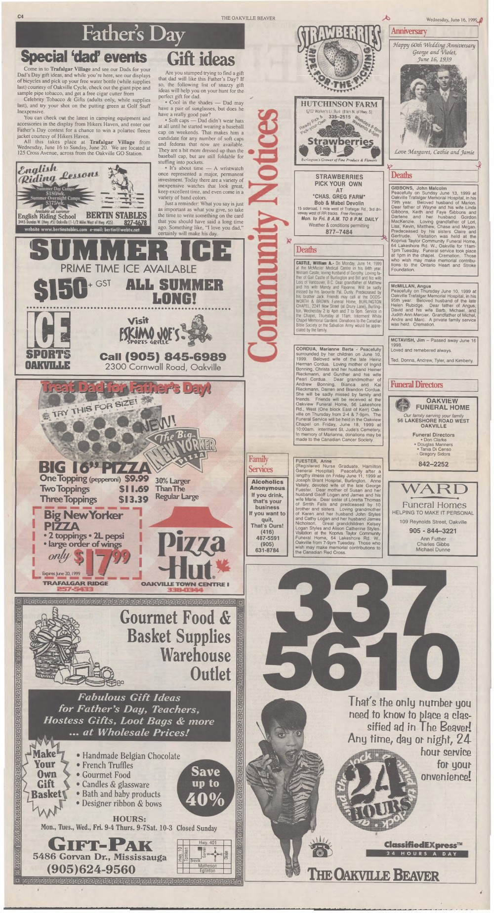 Oakville Beaver, 16 Jun 1999