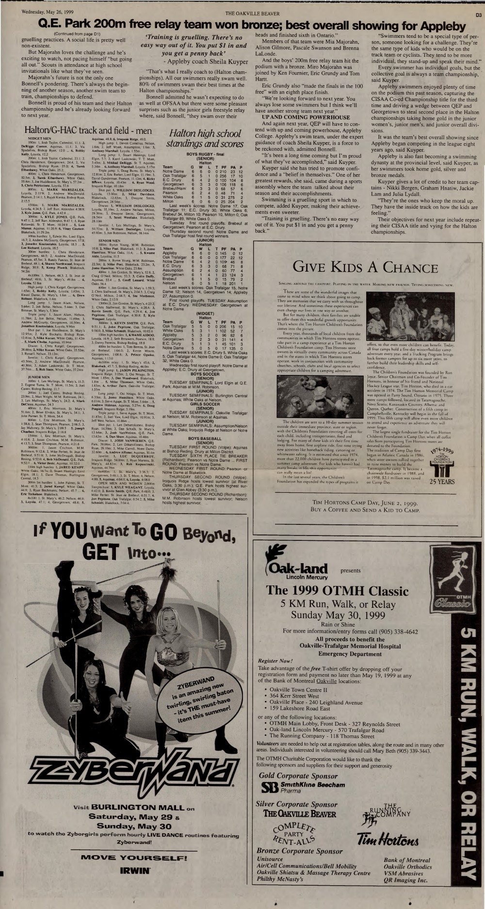 Oakville Beaver, 26 May 1999