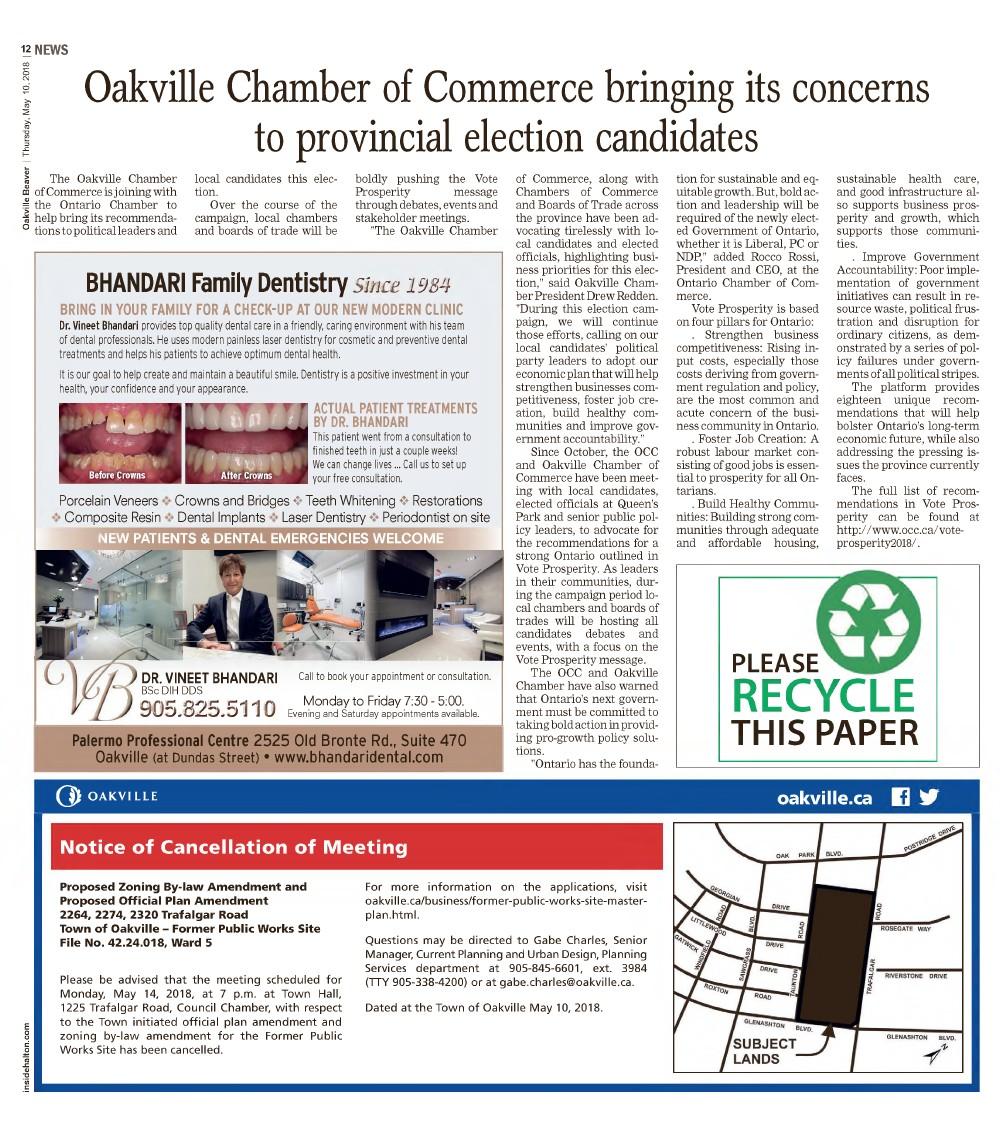 Oakville Beaver, 10 May 2018