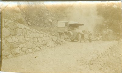 Photograph of Allan Davidson and Vehicle