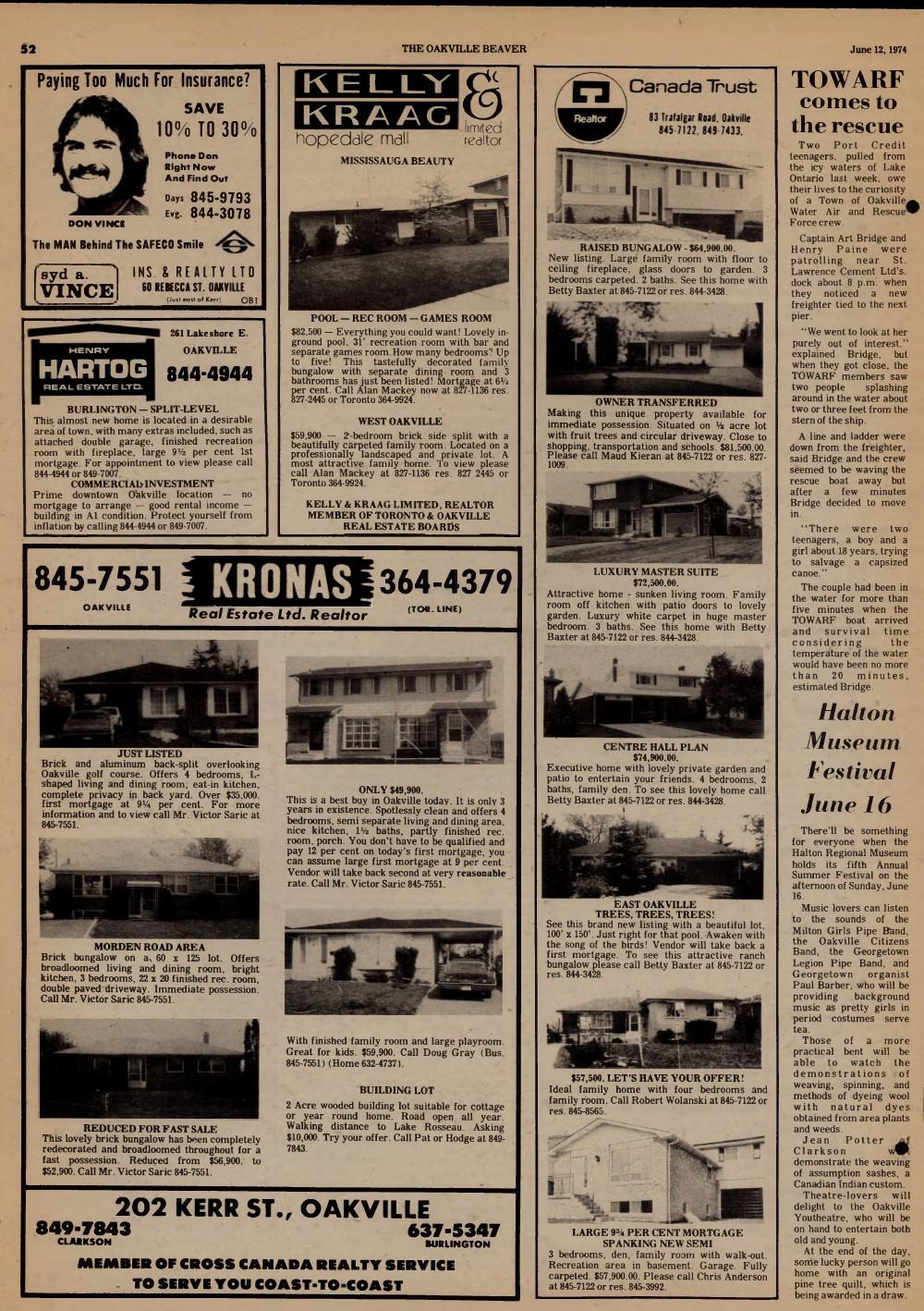 Oakville Beaver, 12 Jun 1974