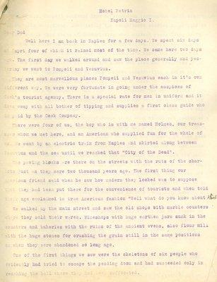 Allan Davidson Letter, May 1, 1918