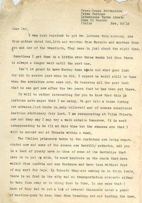 Allan Davidson Letter, November 20, 1918