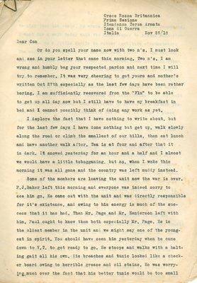 Allan Davidson Letter, November 25, 1918