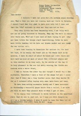 Allan Davidson Letter, December 3, 1918