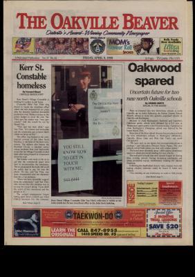 Oakville Beaver, 9 Apr 1999