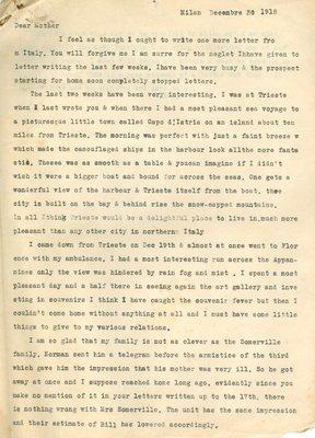 Allan Davidson Letter, December 30, 1918