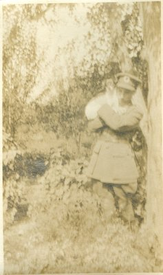 Photograph of Allan Davidson and Gyp