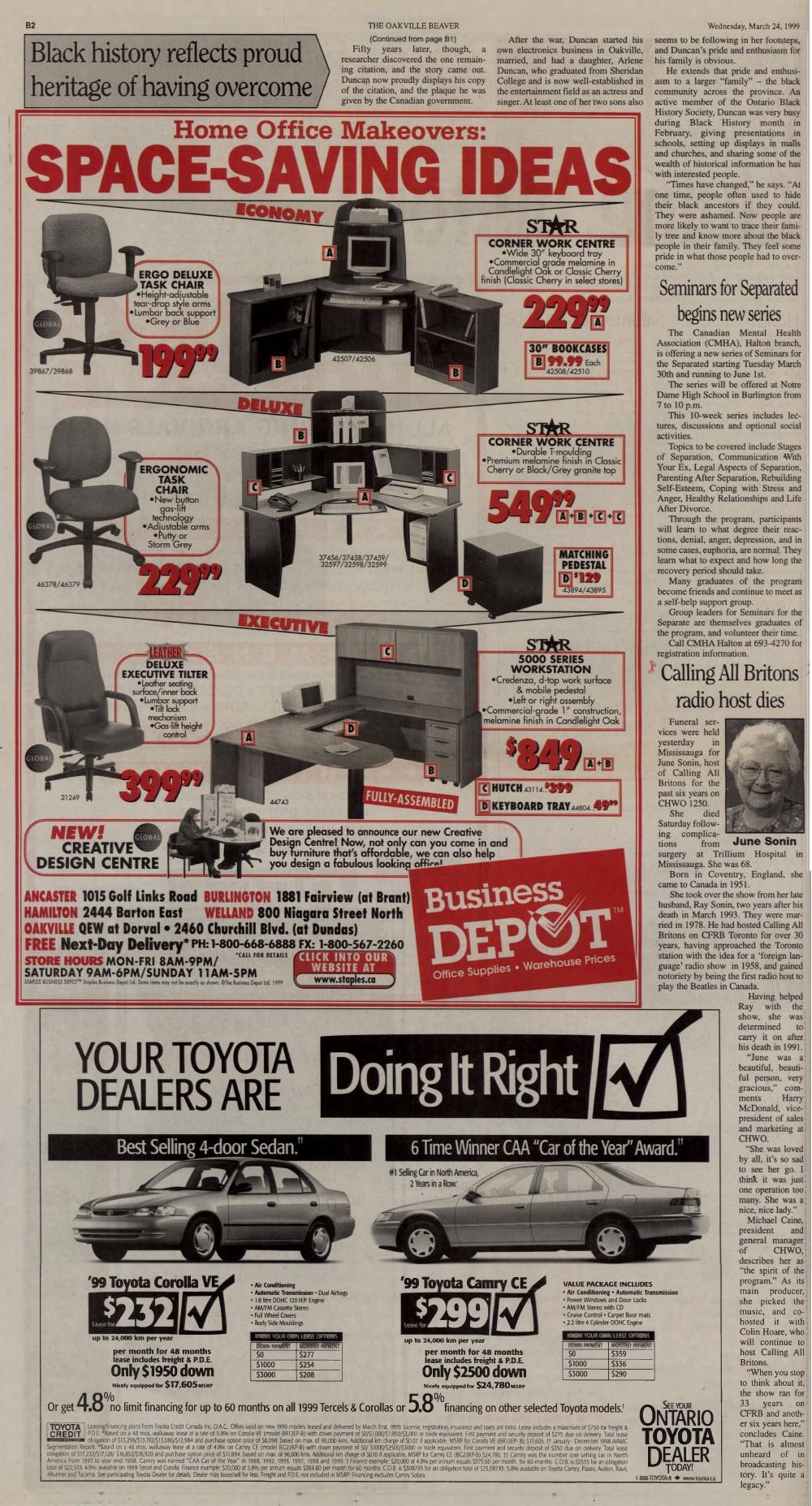 Oakville Beaver, 24 Mar 1999