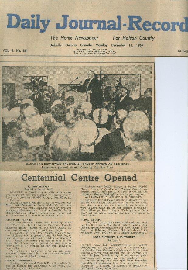 Centennial Centre Opened