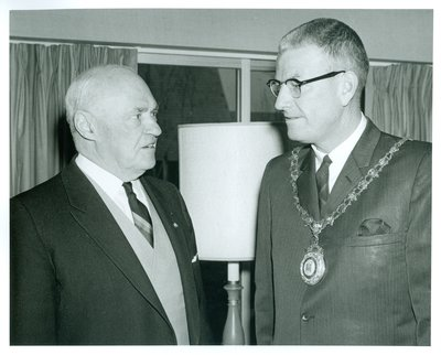 Mayor Mclean Anderson and Lt/Gov. Rowe