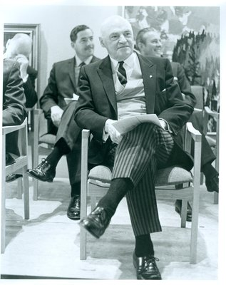Earl Rowe at the Opening of the Oakville Centennial Centre