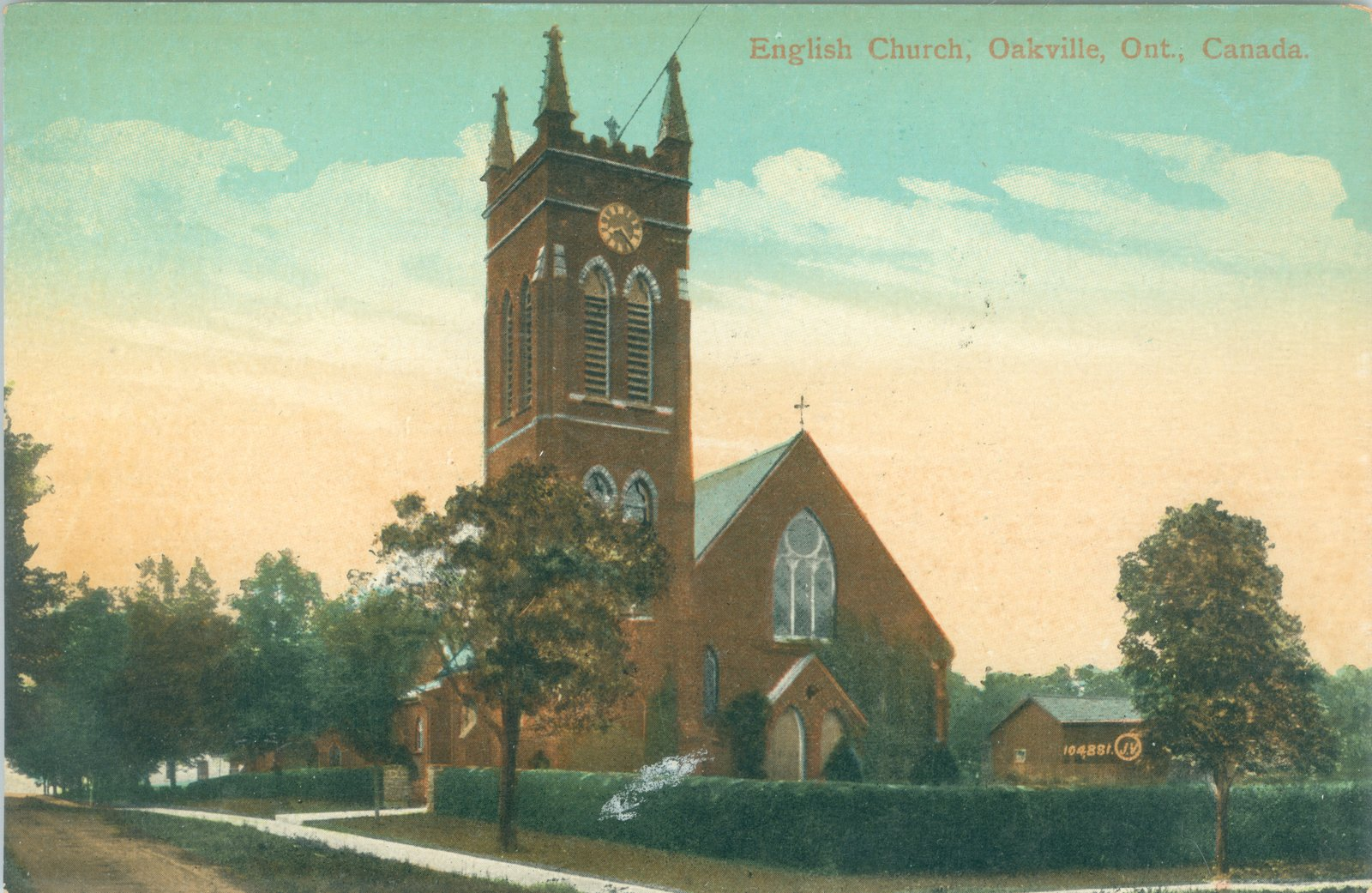 Oakville English Church Postcard