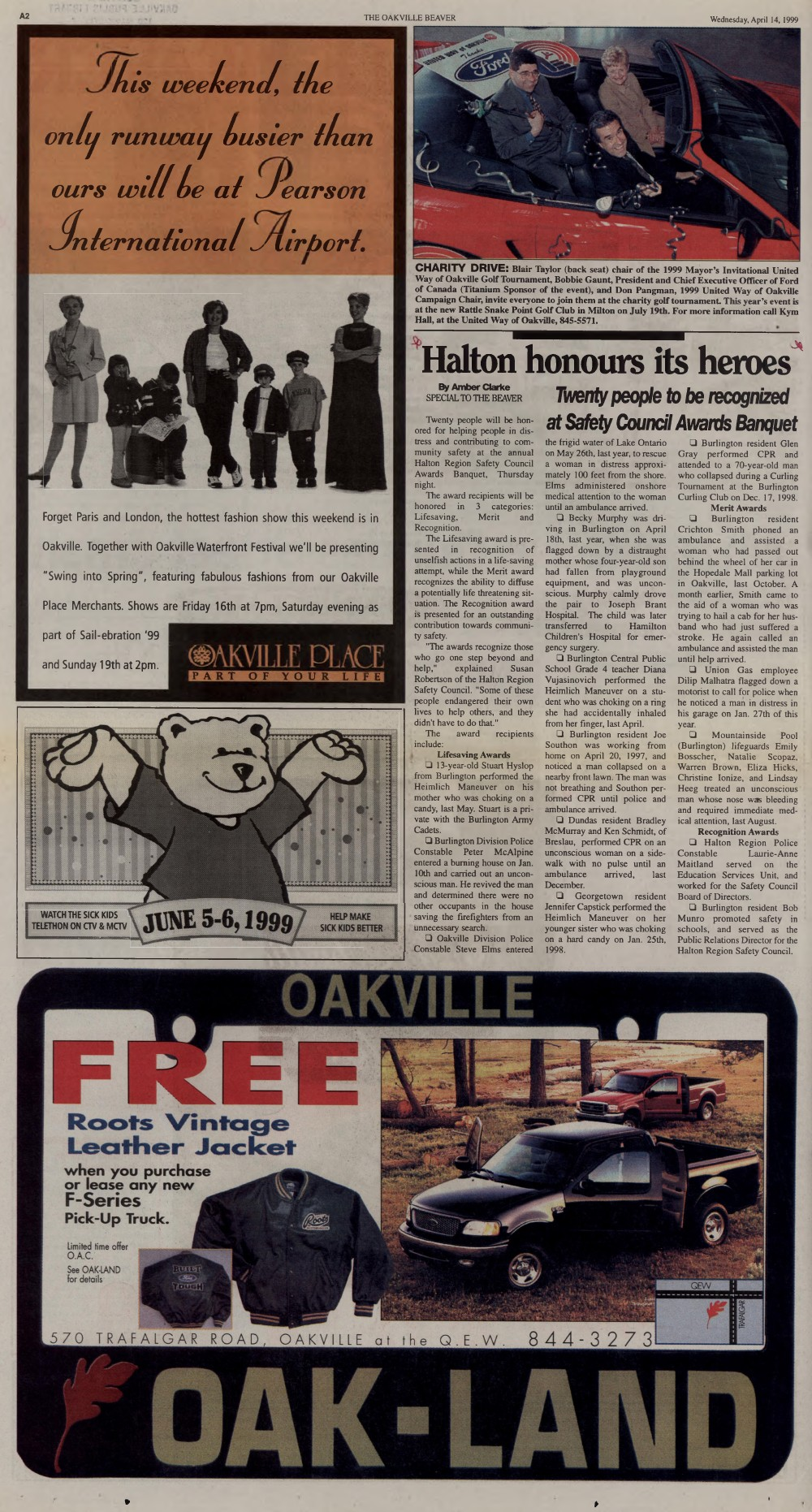 Oakville Beaver, 14 Apr 1999