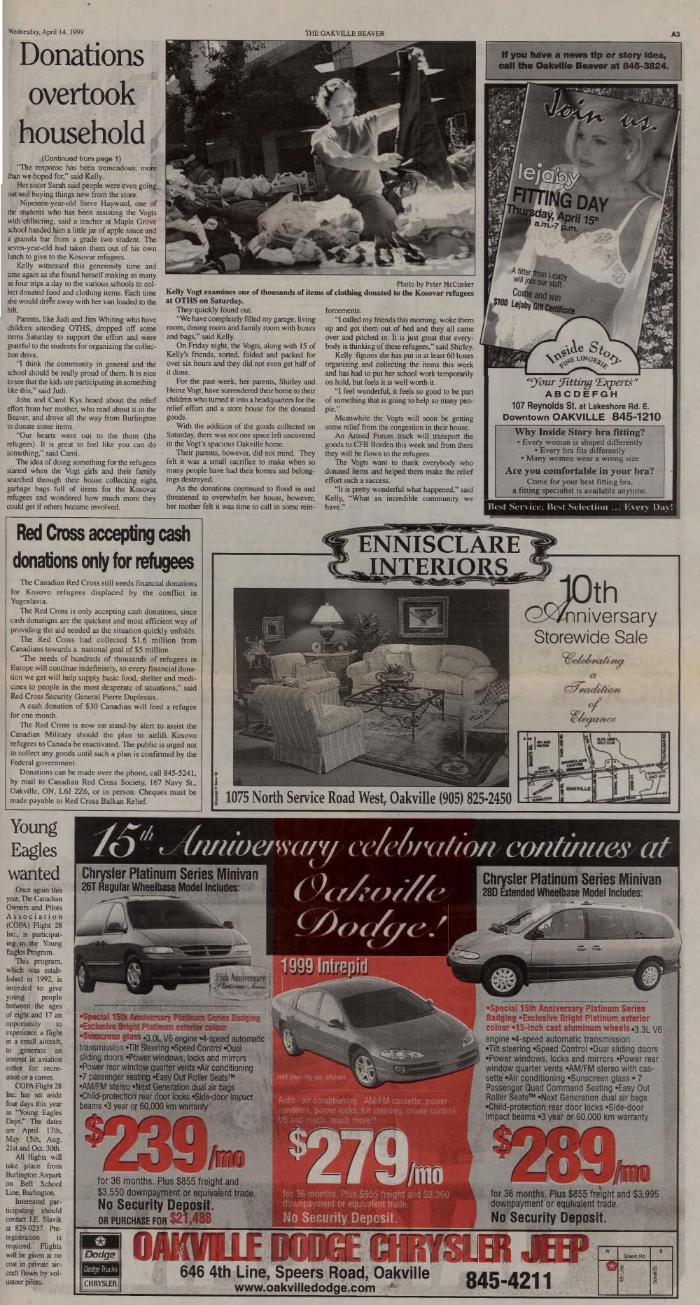 Oakville Beaver, 14 Apr 1999