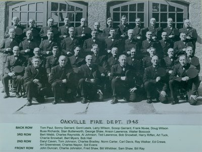 Oakville Fire Department 1945