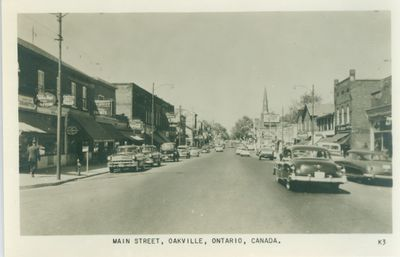 Oakville Main Street Postcard