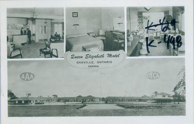 Queen Elizabeth Motel Postcard