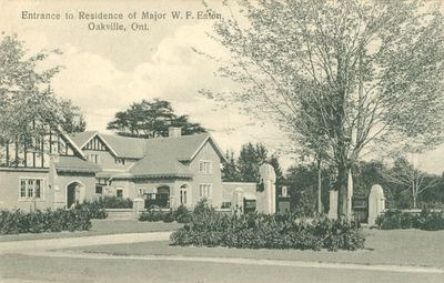 Major W.F.Eaton Residence Postcard