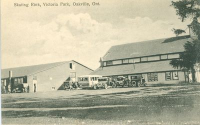 Oakville Skating Rink Postcard