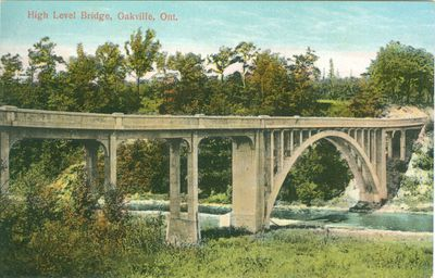 Oakville High Level Bridge Postcard