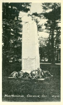 Oakville War Memorial Postcard