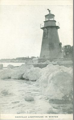 Oakville Lighthouse in Winter Postcard