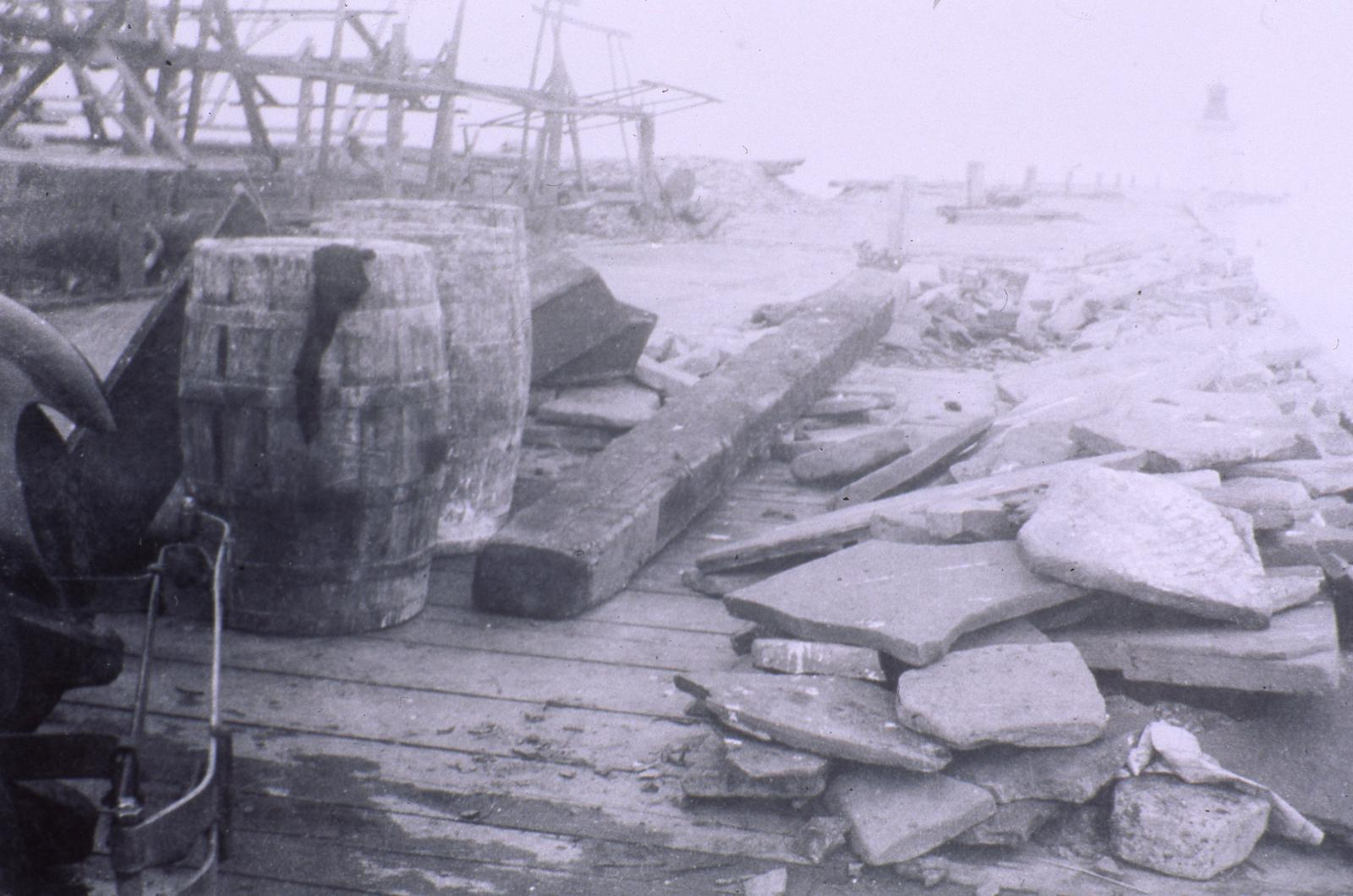 Dundas Shale on Pier (Provided by Bronte Historical Society)