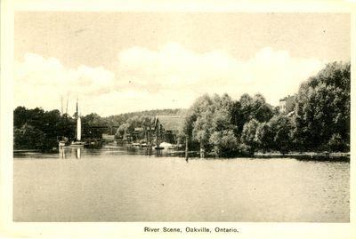 Oakville River Scene Postcard