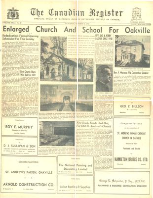 Enlarged Church and School for Oakville