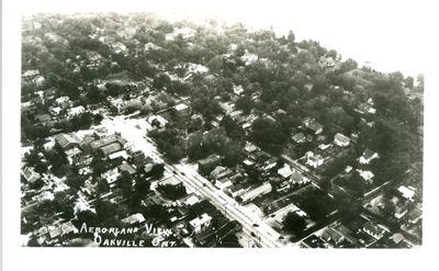 Oakville Aeroplane View Postcard