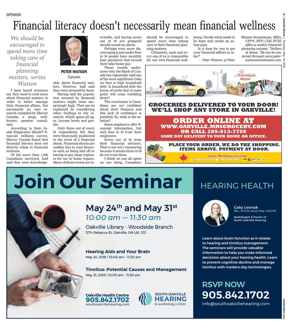 Oakville Beaver, 24 May 2018