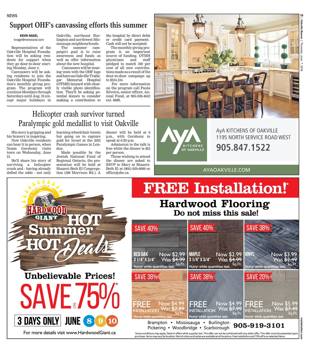 Oakville Beaver, 7 Jun 2018