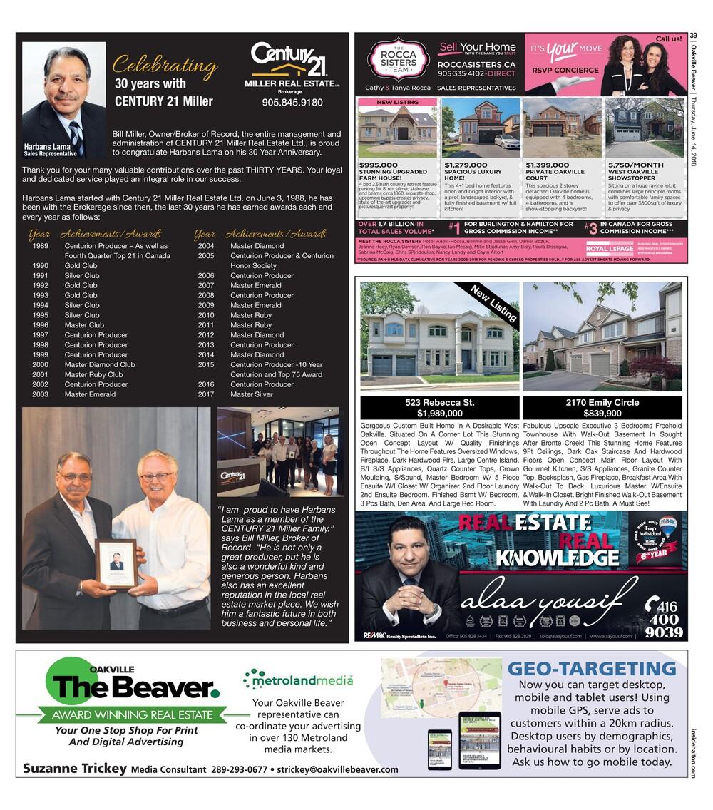 Oakville Beaver, 14 Jun 2018