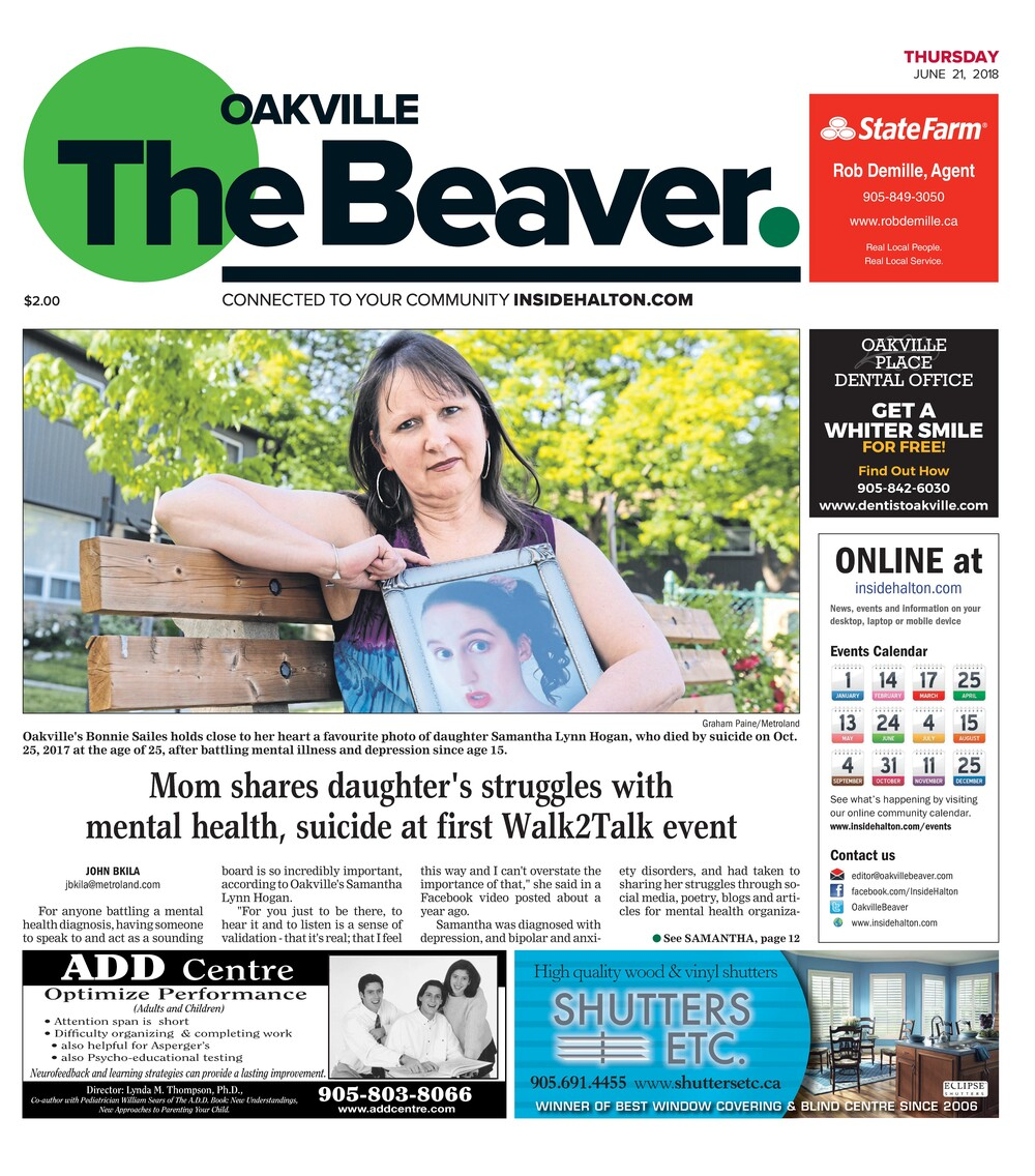 Oakville Beaver, 21 Jun 2018