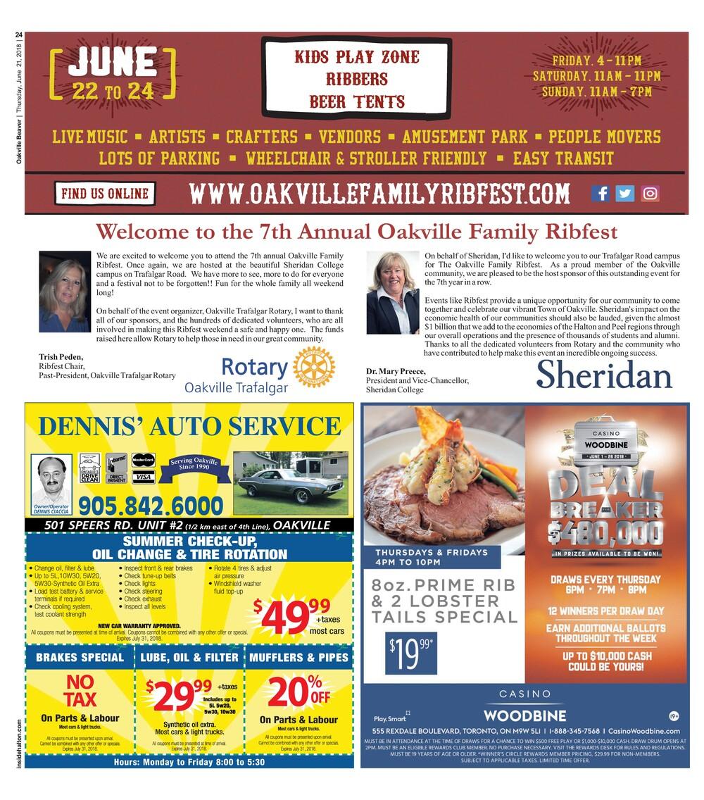 Oakville Beaver, 21 Jun 2018