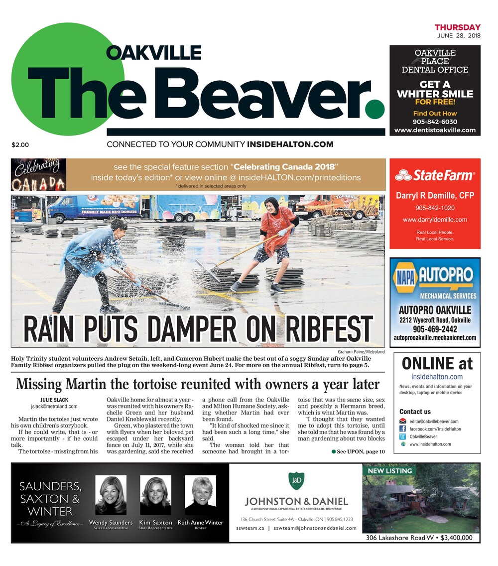 Oakville Beaver, 28 Jun 2018
