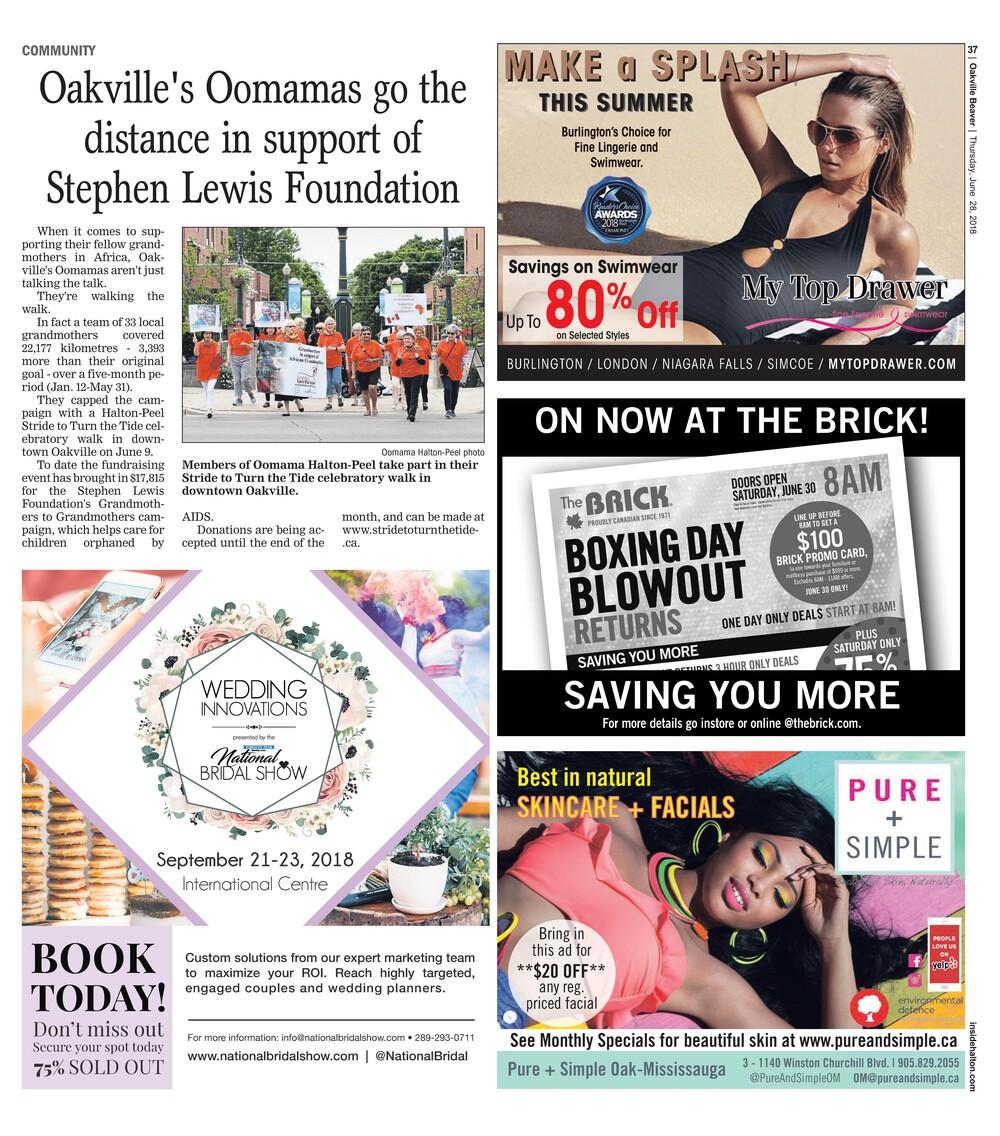 Oakville Beaver, 28 Jun 2018