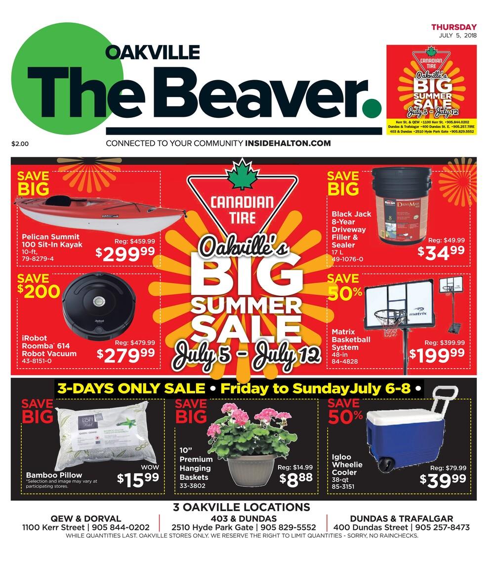 Oakville Beaver, 5 Jul 2018