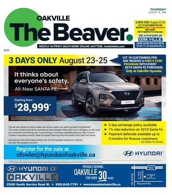 Oakville Beaver, 16 Aug 2018