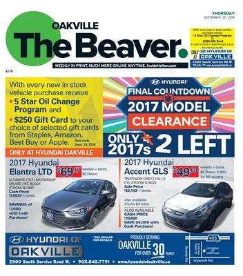 Oakville Beaver, 20 Sep 2018
