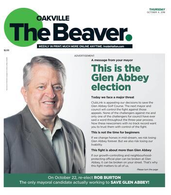 Oakville Beaver, 4 Oct 2018