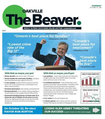 Oakville Beaver, 18 Oct 2018