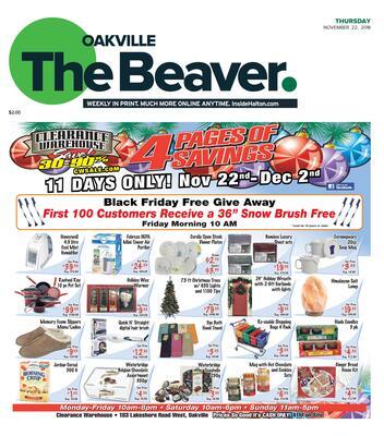 Oakville Beaver, 22 Nov 2018
