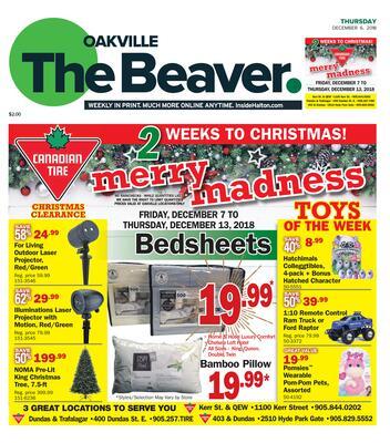 Oakville Beaver, 6 Dec 2018